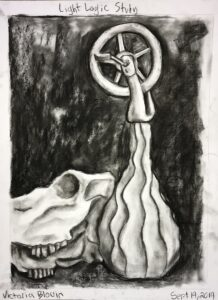 Charcoal still life study we did to practice negative space drawing